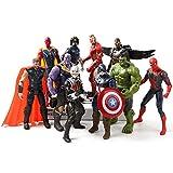 Monifuon 10 Pcs Marvel Figurines Jouets, Marvel Legends Endgame 6.3 'Figurines à Collectionner pour décoration de Voiture Déco Maison