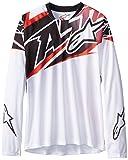 Alpinestars Boy's Sight Long Sleeve Jersey, Large, White/Red/Black
