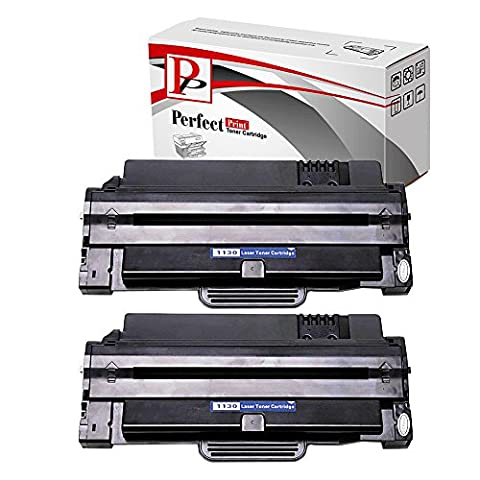 2 Black PerfectPrint Compatible Toner Cartridge Replace 1130 For DELL 1130 1135 1135N Printers