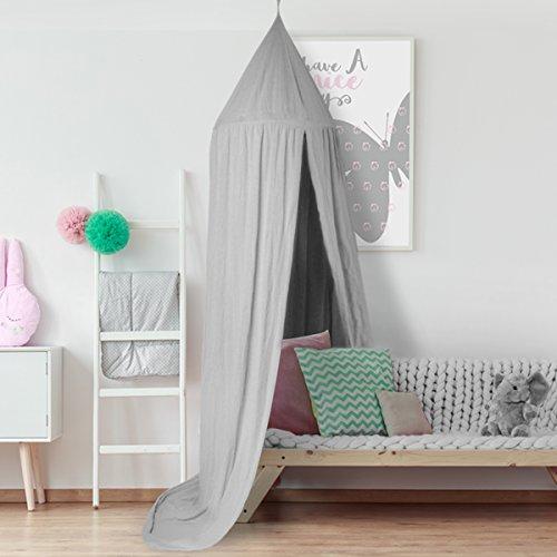 Baldachin , JELEGAN Kinder Bett Kuppel Baumwoll Betthimmel Moskitonetz Spiel Zelt Gut für Baby Innen im Freienspiel Lese Schlafzimmer...
