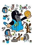 1art1 91454 Der Kleine Maulwurf - Rabbit & Hedgehog Wand-Tattoo Aufkleber Poster-Sticker 85 x 65 cm