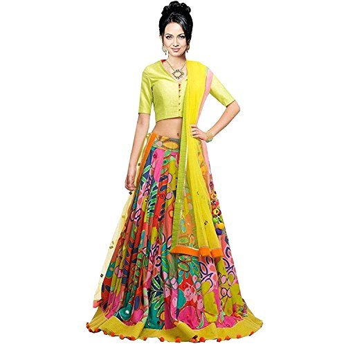 amoco-womens-yellow-silk-crepe-semi-stitched-lehengha-choli