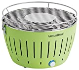 LotusGrill G-GR-34 - Barbecue a carbone senza fumo, colore verde