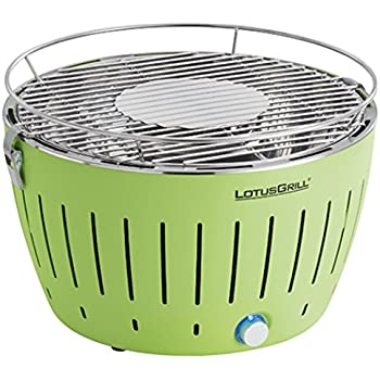 LotusGrill Holzkohlengrill Serie 340, Farbe Limone, 35 x 26 x 23.4