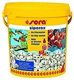 sera 08474 Professional siporax (15mm) 10 Liter - Biologisch selbst reinigendes Hochleistungsfiltermedium in Ringform fürs Aquarium