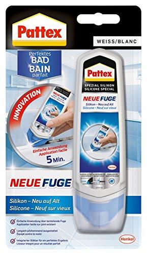 Pattex Neue Fuge - Silikon neu auf alt/Fugenmasse - ideal für schmalere Fugen geeignet/1 x 100ml, Weiss (Nicht Silikon)