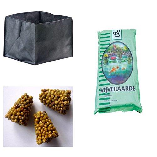 kit vaso + terriccio per ninfee piante palustri e ossigenanti