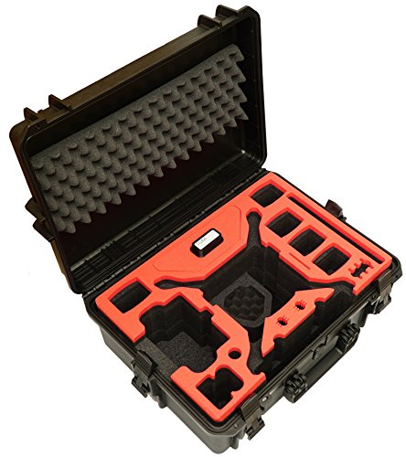 Profi Transportkoffer, Koffer für DJI Phantom 4 Pro / Pro Plus Kopter mit 6 Akkus + Zubehör, wasserdichter Outdoor Case, Hardcase - 7