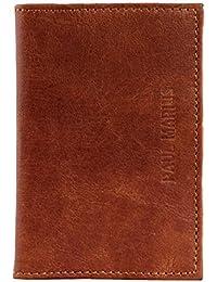 ALDO Marrón cartera de cuero compartimentos para tarjetas y billetes estilo vintage y retro PAUL MARIUS