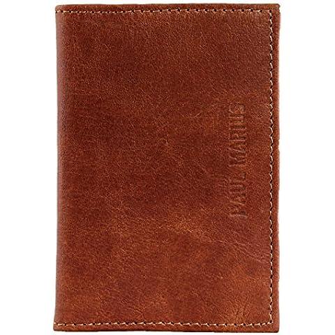 PAUL MARIUS cartera de cuero compartimentos para tarjetas y billetes marrón cartera ALDO