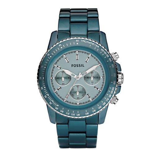 Fossil Damen-Uhren Chronograph Sport Aluminium Türkis CH2706