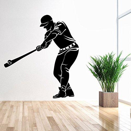 JWJQTLD Wandaufkleber,Sport Vitalität Baseball Charakter Wand Aufkleber Junge Schlafzimmer Persönlichkeit Dekorative Sticker Wasserdicht Herausnehmbares, Geeignet Für Alle Glatten Oberfläche -