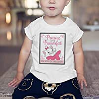 Disney Baby Girls Marie T-shirts, White, 6-9 Months