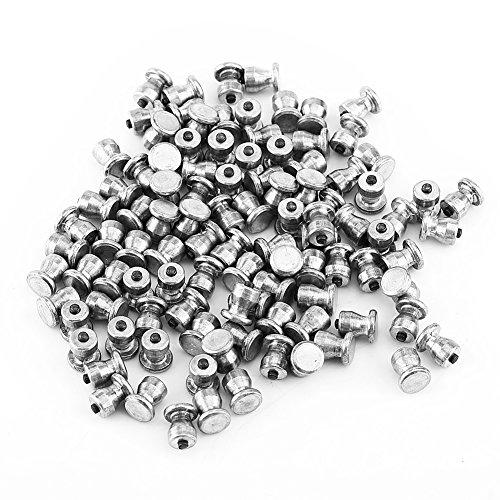 Qiilu 100 piezas 8*10 mm Tornillos antideslizantes Clavo de nieve Hard Alloy para accesorios de neumáticos de automóviles