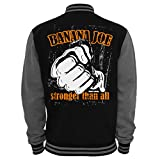 Original Banana Joe ® 2-Tone Collegejacke Limited Edition #9 - Schwarz-Grau L