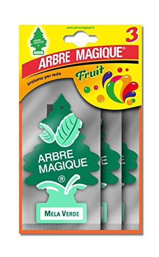 Arbre Magique Tris, Deodorante Auto, Fragranza Mela Verde, Profumazione Prolungata fino a 7 Settimane, Confezione Tripla