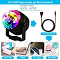 Emooqi Stage Disco Ball Lights 7 Colours Strobe Light Sound Disco party lights for Party Christmas Halloween Pub Wedding Club Show