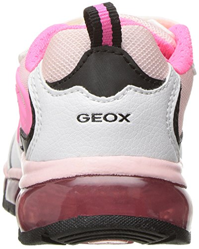 GeoxJ Android Girl A - Scarpe da Ginnastica Basse Bambina Rosa (White/Fluofuchsiac1441)