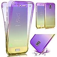 QianYang Funda Samsung Galaxy J3 2017 Transparente Silicona Fundas Para Samsung J3 2017 Carcasa Silicona Funda Carcasa Protectora Case para J3 2017 (5,0 Pulgadas SM-J330F)