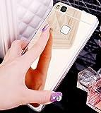 Coque Huawei P9 Lite,Etui Huawei P9 Lite,Placcatura Miroir Glitter bling Mirror Coque...