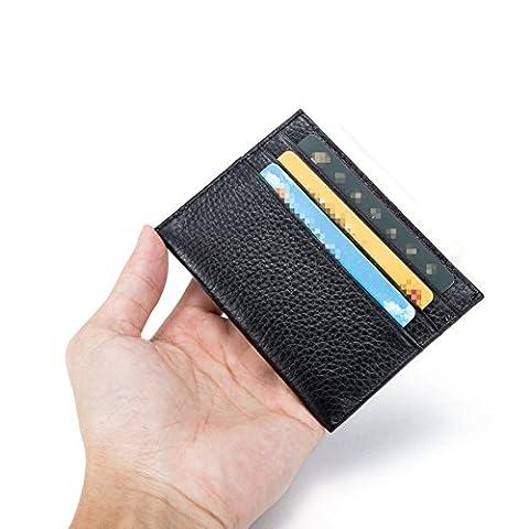 VEASTI Echt Leder Kartenetui Herren mit Kompaktes Geldklammer und Kreditkartenetui in Einem Produkt Clip Minimalistische Brieftasche