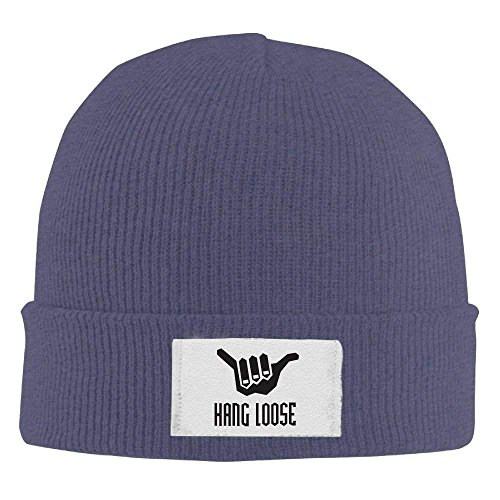 RJHNcase Hang Loose Winter Warm Knit Hats Skull Caps Stretchy Cuff Beanie Hat Unisex (Knit Loose Beanie)