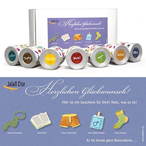Geschenkbox für Männer von Jalall D'or mit 7 Dosen | edles Geschenkset Mann mit PREMIUM Nüssen & Trockenfrüchten | Geburtstagsgeschenk für Männer