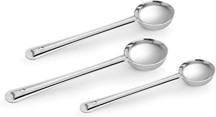 Classic Essentials Stainless Steel Ladle Set, 3-Pieces, Silver