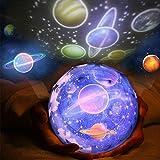 Sternenhimmel Projektor Baby Nachtlichter Projektor Lampe, 360 Grad Rotierende Planet Erde Mond Sterne LED Projektor, USB Antrieb/Batterien Betrieben, Kinder Schlafzimmer Geschenk Geburtstag Partei