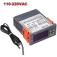 Decdeal STC-1000 Controlador Digital de Temperatura Calefacción Refrigeración Centígrado Termostato 2 Relés Salida con Sensor