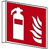 LEMAX® Fahnenschild Feuerlöscher F001 nach ISO 7010 150x150mm PVC nachleuchtend