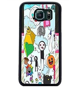 PrintDhaba Graffiti D-4975 Back Case Cover for SAMSUNG GALAXY S6 EDGE (Multi-Coloured)