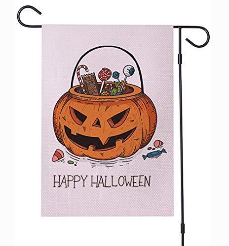 Halloween Garden Flag wasserdichte Verschlüsselung Leinen 12 x 18 Zoll,a (Halloween Flags Garden)