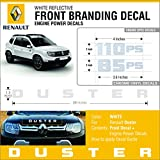 #5: Front Branding Decal WHITE Sticker
