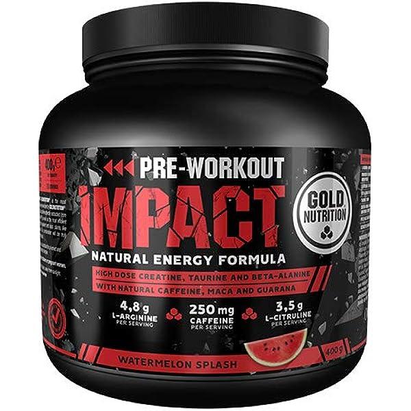 Goldnutrition Pre Workout Impact 400g, Sandía, Aumentar ...