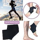 Caviglia manica sostegno 2PCS nero regolabile sport sicurezza brace stabilizzatore Foot Wrap for Ball Games running fitness