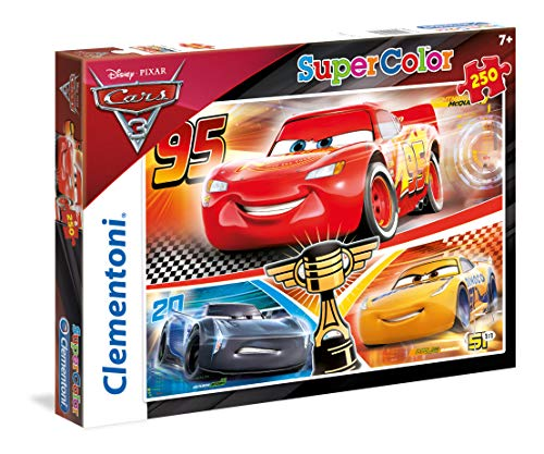 Clementoni- cars 3 mc queen 95 supercolor puzzle, multicolore, 250 pezzi, 29747