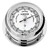 Barometer Pirat II verchromt Ø 96mm - Schweremesser Druckmesser