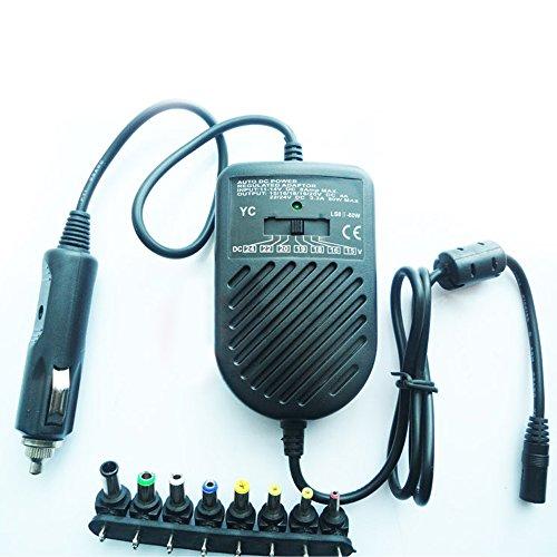 Yihya 80W Tensione Regolabili Alimentatore Universale Computer Portatile Power Charger Adattatori Converter AC / DC Lenovo Sony Samsung Notebook Accendisigari Alimentazione Elettrica (Tensione di Uscita: 15V - 24V Tensione in Ingresso: DC 11-14V 8A Max)