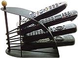 Great Ideas Remote Control TV Handset Holder / Storage Caddy / Organiser - Holds Up To 4 T.V. Remotes - Black Metal Arched Design