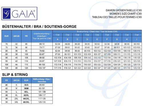 Gaia Damen Slip GF427P Türkis Nacht