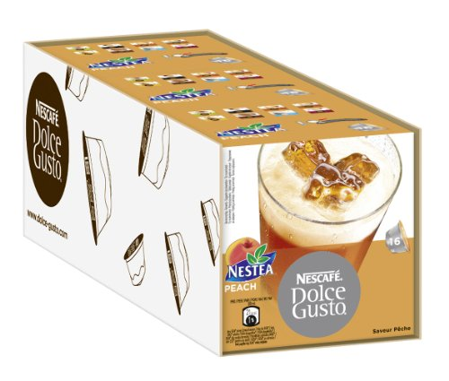 Choose Nescafe Dolce Gusto Nestea Peach 16 Servings (Pack of 3, Total 48 Servings) from Nestlé