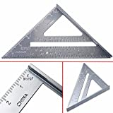 Aluminium Dreieck Lineal Winkel Winkelmesser Square Geschwindigkeit Carpenter Framing Messwerkzeug 7 Zoll (178 mm)