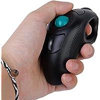 Mini Wireless Trackball Mice Mouse Expert Handheld Optical Trackball 10M2.4Hz USB for Windows, Mac(Black)