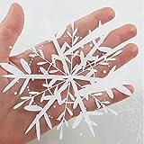 Fensterbild Wunderschöne Schneeflocken im Set – WIEDERVERWENDBAR – 24 filigrane Aufkleber Schneeflocken und Sterne von Wandtattoo-Loft® Vergleich