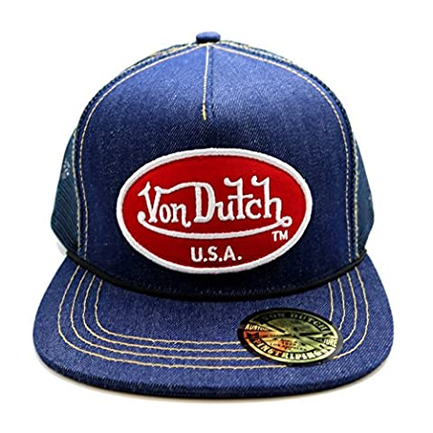 Von Dutch Denim Flat Peak Trucker Cap Official Lifestyle Range