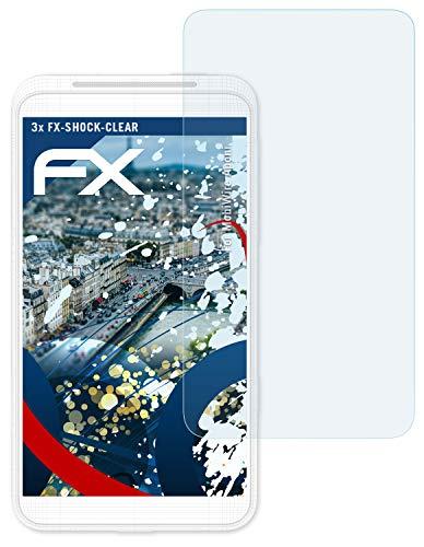 atFolix Schutzfolie kompatibel mit MobiWire Aponi Panzerfolie, ultraklare & stoßdämpfende FX Folie (3X)