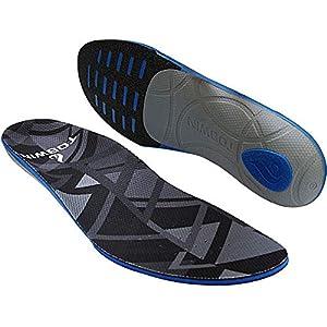TOSWIN Sport Antistress- Einlegesohlen aus EVA elastische Material >> Laufkomfort, Geruchlos und Antibakteriell – Perfekte Dämpfung und Unterstützung bei allen Sporten, (38-45)