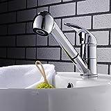 HKFV Pull-Duschkopf Wasserhahn Küchenarmatur Einhebelmischer Wasserhahn Sink Mixer mit Ausziehbrause