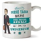 Anwalt Tasse/Becher / Mug Geschenk Schöne and lustige kaffetasse - Diese Tasse gehört Anwalt im Universum - Keramik 350 ml
